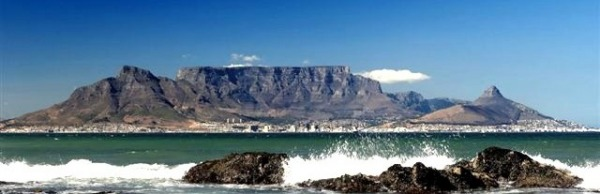 View of Tabe Mountain from Blouberg beach